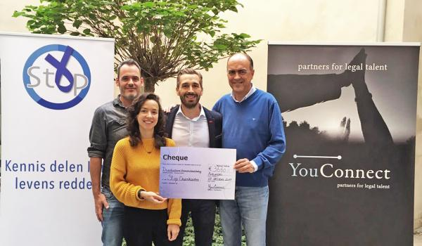 YouConnect raises more than 3,500 EUR for Stop Darmkanker VZW